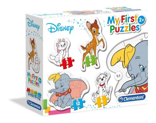 Clementoni Kids Children Disney Classic Animals 4 in 1 My First Puzzle Game